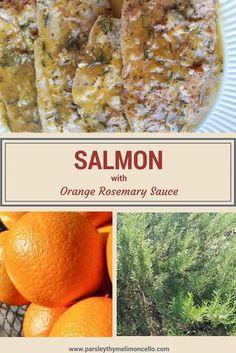 Salmon with an Orange & Rosemary Sauce