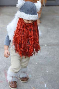 Handmade Halloween - This simple Viking costume is too cute!