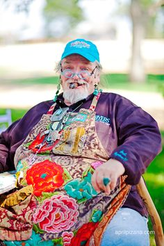 bud royer. . the patriarch of the pie family in round top, texas. . dripping with TUrquoise . . the one. the only. bud. bless!