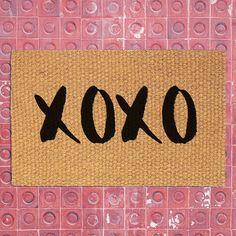 XOXO Doormat   Welcome Mat   Home Decor   Valentineu0027s Day Decor   XOXO  Decor  