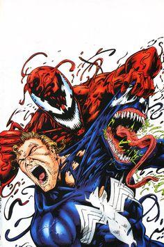 Venom Carnage Unleashed Vol 1 3 - Marvel Comics Database Marvel Dc Comics, Marvel Venom, Bd Comics, Marvel Vs, Marvel Heroes, Venom Comics, Comic Book Characters, Marvel Characters, Comic Character