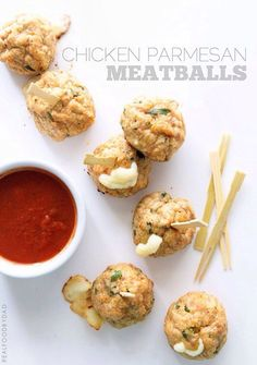 Chicken Parmesan Meatballs from Real Food by Dad