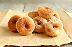 Baked Cinnamon Sugar Mini Doughnuts