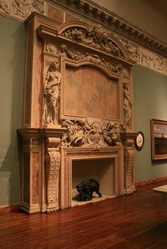 """Ca D' Zan ornate fireplace"" extremely extravagant, but imagine how amazing this would look in my room! *swoon*"