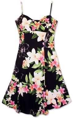 a57aea101d28 vintage vibe Cotton Floral dress Hawaiian Party Outfit