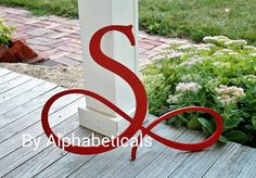 Great focal point for a Monogram Wall-  Wooden Initial Monogram Wall Decor Wooden by Alphabeticals on Etsy, $25.00