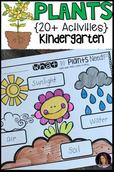Plant Activities, Writing Crafts, Science Lessons and Centers for Kindergarten Plants Activities} for Kindergarten. The boys and girls will love this literacy and science based unit! Kids will learn about plant life cycle, plant parts/jobs, parts Kindergarten Units, Kindergarten Lesson Plans, Kindergarten Activities, Craft Activities, Sequencing Activities, Kindergarten Science Activities, Science Lesson Plans, Science Lessons, Science Experiments