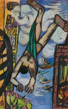 Max Beckmann Falling Man, 1950.