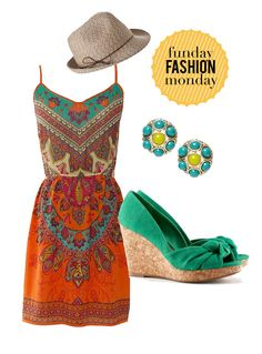 Fun fashions for an evening outdoors- minus the hat (not a hat wearing girl)