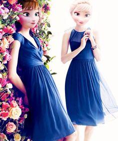Pretty modern Elsa and Anna
