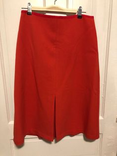 06b1d51d0 LOFT Ann Taylor Women's Skirt Size 6 Coral Front Slit Pencil Skirt Knee  length #fashion