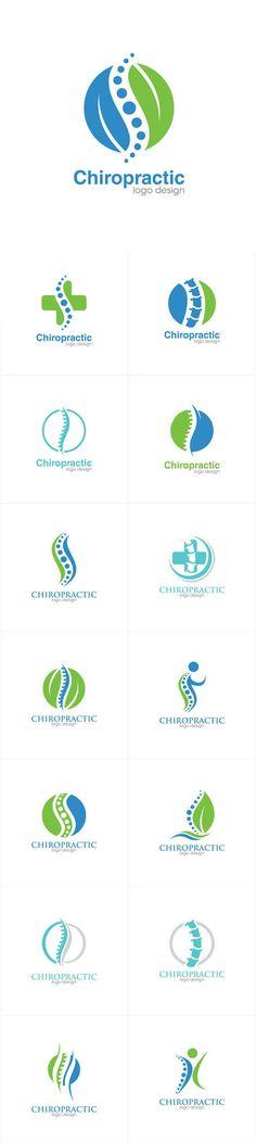Vectors - Medical Chiropractic Creative Concept Logo Design Template