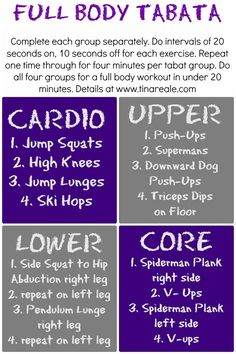 Full body Tabata workout.