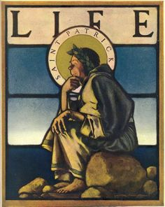 Life magazine, March 3, 1904 'Saint Patrick' cover by Maxfield Parrish (1870–1966) | Herald Square Hotel