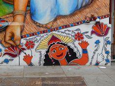 saraswati on women's building mural, mission district san francisco Mission District San Francisco, Outdoor Art, Public Art, All Art, Graffiti, Street Art, Museum, Sculpture, Building