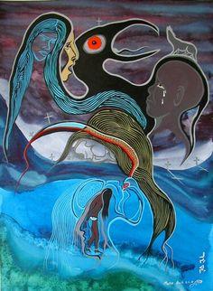 Native American Artwork, Native American Artists, American Indian Art, Claudia Tremblay, Native Art, Native Style, Aboriginal Artists, Nativity Crafts, Indian Artist
