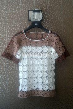 Блуза крючком из мотивов