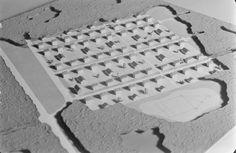 pienoismalli pientaloalueesta jossa pesäpallokenttä, Pietinen Viljo 1943