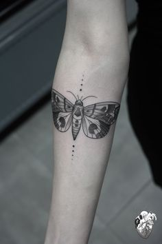 geometric moth tattoo - Google Search