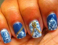9 Best Jeans and zipper Nail Art Designs | Styles At Life
