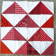 Half Square Triangle Quilt Blocks