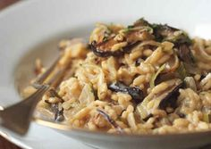 Risotto With Leeks, Shiitake Mushrooms, and Truffles | 26 Dinners For Your Vegetarian Valentine
