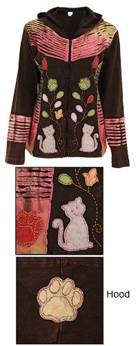 Cat Flower Garden Jacket at The Animal Rescue Site