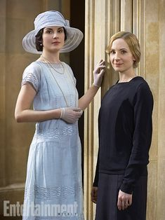 Lady Mary and Anna = Favorite friendship Love the outfit.