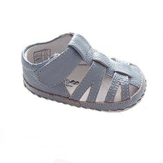 Kuner Baby Boys Genuine Leather Soft Bottom Sandals First Walkers Shoes 115cm612months Blue1