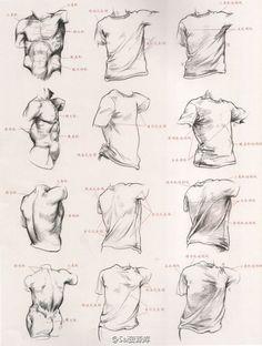 Oberkörper zeichnen - mit und ohne T-Shirt