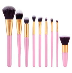 Professional 9pcs Makeup brushes (Multiple Colors Available)