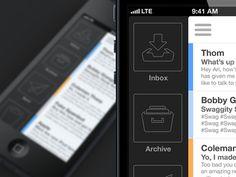 iPhone Mail App | Designer: Ari