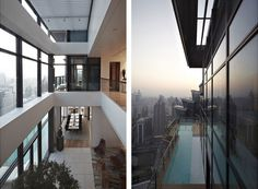 Amazing Duplex Penthouse in China by Kokaistudios | HomeDSGN