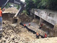 INDRHI informa trabaja en reparación de avería en canal de Santiago