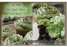 MOMS CRAZY COOKING: Thin Mint Girl Scout Cookie Cupcakes