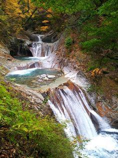 西沢渓谷七つ釜五段の滝