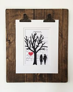 Items similar to Personalized Anniversary or Wedding Gift - Paper Tree & Hearts on Sheet Music - Anniversary Gift- Paper Anniversary- First Dance Song on Etsy Paper Tree, 3d Paper, Paper Gifts, 1st Anniversary Gifts, Paper Anniversary, First Dance Songs, First Kiss, Wedding Gifts, Art Pieces