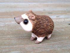 Hérisson : Handmade miniature polymer clay animale la figure