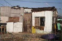 A fairly typical home in a South African township. These shacks are often built with whatever materials can be found