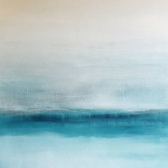 Versed is an abstract lightly textured abstract art painting. It is composed of blue, turquoise, grey, white on a wrapped, wood-frame canvas. It is ready to hang!