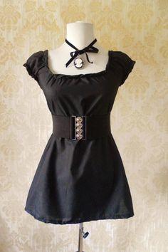 black cotton peasant blouse.