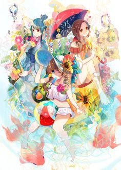 """""""もう20日だなんて''  『#anime #animegirl #manga #kawaii #cute #summer #animeart…"""