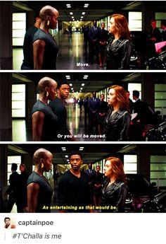 This was all of us in the theater #fucknatashaup // King t'challa of Wakanda, black panther, Dora milaje, Natasha romanoff, mcu, marvel, Avengers