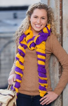 Rah-Rah Ruffles Scarf - not your ordinary scarf!  2 skeins, but this looks really cool!!  @Becky Leuschner what do you think??