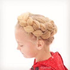 jehat hair — I love this pic of Bright's textured crown braid...