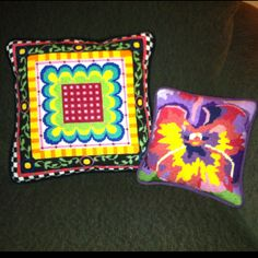 My very own needlepoint pillows.