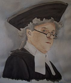 comissioned watercolour portrait late 18th century cleric