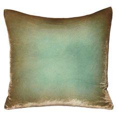 kevin o'brien ombre velvet pillow - antique