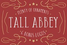 Tall Abbey Bundle | Logos + Elements by Tom Chalky on Creative Market