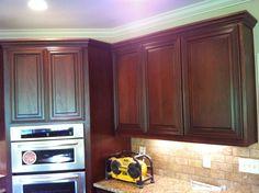 Red Poplar Cabinets. Todd Akins Finishing